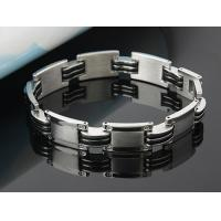 Fashion mens jewelry men bracelet stainless steel Silicon bracelets 21cm wholesale jewelry Manufactures