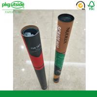 China Long Large Cardboard Postal Packaging Tubes 100% Recycled For Shipping on sale
