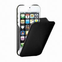 PU Leather Case for iPhone 5, Easy Access to All Functions Manufactures