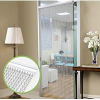 Silver Aluminium Chain Link Curtain Fly Screen Strip Blinds Bug Blind Keeps out Flies Wasps Pest Insect & Bees, 90x215cm Manufactures