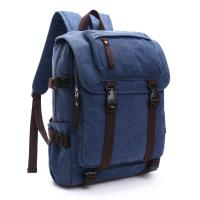Canvas Large Capacity School Backpack , Patchwork Backpacks For College Students Manufactures
