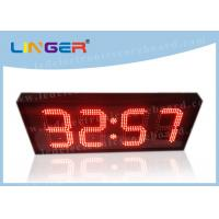 12 / 24 Hours Mode Red Led Digital Clock Small For Office 370*1010*100mm Manufactures