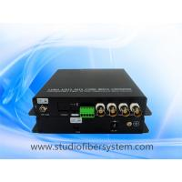 4CH HDCVI video audio fiber converter with black aluminum case Manufactures