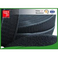 50Mm Wide Black Hook And Loop Tape / Male And Female Hook And Loop Roll Fastening Manufactures