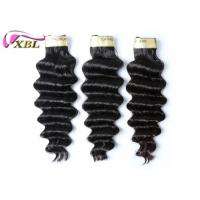 Thick Bottom Virgin Brazilian Hair Loose Deep Wave Natural Black 100 Virgin Hair Bundles Manufactures