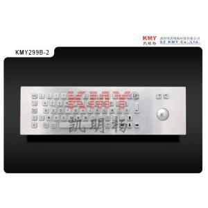 China Anti-vandal Kiosk Metal Industrial Keyboard With Trackball IP65 on sale