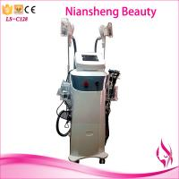 Quality Double cryo handle + Cavitation RF + Lipolaser multifunctional body slimming for sale