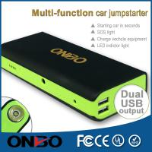 China ONBO 12V 16V 19V 5V charging compact car jump starter  jump starter on sale