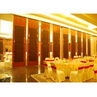 Hanging Office  Aluminum Sliding Doors , Banquet Hall Partition Wall , Ceiling Track Manufactures
