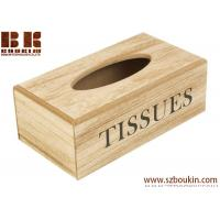 China Recycle Wooden Tissue Holder Home Tissue Box napkin box napkin container tissue organizer on sale