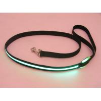 Pink Plain Webbing LED Flashing Pet Leads Manufactures