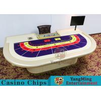 Macao VIP Dedicated Casino Poker Table With Standard Simulation Pu Leather Handrails Manufactures