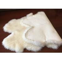 Genuine Bedroom Sheepskin Rugs , 4 Pelt Real Sheepskin Blanket 120x180cm Manufactures