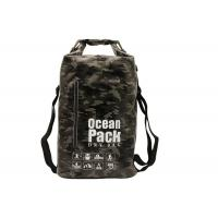 Rafting Pvc Small Dry Bag Backpack For Water Sports Black Camouflage Color Manufactures