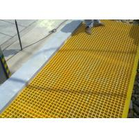 FRP Plastic Floor Grating Acid / Alkali Resistant 25 X 38 X 38mm Dimension Manufactures