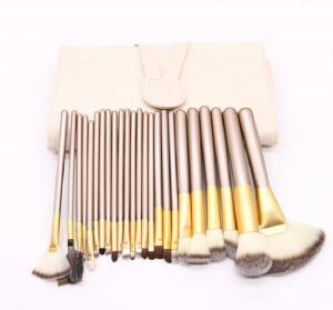 China 24 Pcs Professional Makeup Brush Set Aluminum Ferrule Material on sale