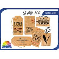 Kraft Paper Board Packaging Accessories Printed apparel hang tags Swing Tickets Manufactures