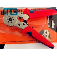 180mm Hand Crimping Tool 24-10 AWG , MG-8-6-6 Carbon Steel Non Insulated Crimping Pliers Manufactures