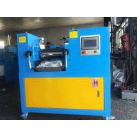 Quality PLC Type Two Roll Mill Machine , Yellow & Blue Color Customized Lab Mixing Mill for sale