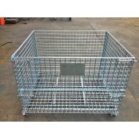 Industrial Stackable Welded Steel Wire Mesh Pallet Cage For Warehouse Storage Manufactures