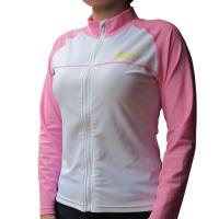 BONZ Ladies Pink UPF50+ Sun protection Front Full Zippered Swim Water Jacket Rash Guard Jacket Manufactures