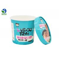 China Disposable Frozen Yogurt Paper Ice Cream Cups PP Biodegradable Ice Cream Containers on sale