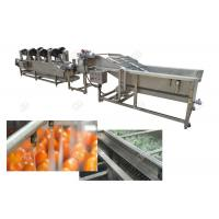 China Multifunction Vegetable Fruit Washing Machine Sorting Processing And Air Drying Line on sale