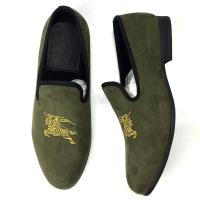 Wedding Mens Leather Slip On Shoes Men'S Smoking Slippers EVA Insole Material Manufactures
