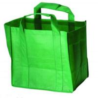 Quality Custom Printed Promotional Carrier Bags Shopping Totes in Green /, Purple / White for sale