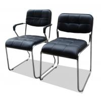 Black Computer Office Furniture Chairs Synthetic Leather Metal Frame Comfortable Manufactures