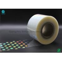 China High Shrinkage Rate 5% - 10% BOPP Holographic Plastic Film With Laser Logo And Name on sale