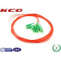 12 fibers LC Pigtail Fiber Optic , Optical Fiber Pigtail Single Mode Local Area Network Manufactures