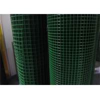 China 14mm 50*100mm Vinyl Coated Welded Wire Mesh Green on sale
