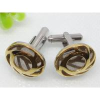 China Custom Golden Hollow Stainless Steel Cuff Links 1620046 on sale