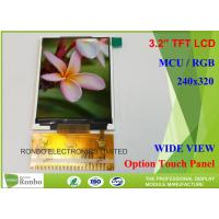 China Customizable LCD Screen 3.2 Inch 240x320 TFT LCD Display Option Touch Panel on sale