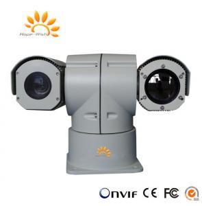 China Infrared Vehicle Mounting Security Cameras , Dual Sensor PTZ Long Range Thermal Imager on sale