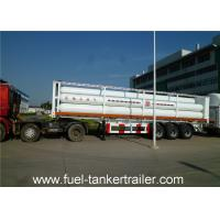 Container tube gas tank trailer for Loading CNG Medium with 9 units Gas Cylinder Manufactures