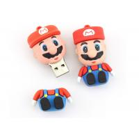 Cute Super Mary PVC Custom USB Flash Drives Full Capacity Soft Rubber Memory Sticks Manufactures