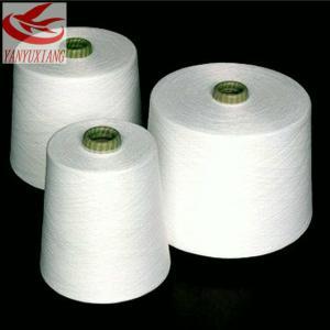 40/1 raw white polyester spun closed virgin yarn instock Manufactures