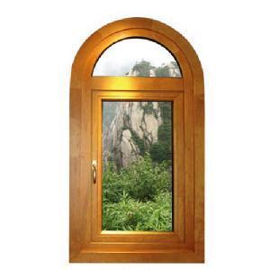 Aluminium Wood Window (HMAW908) Manufactures
