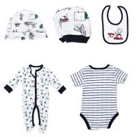 Cotton Newborn Baby Clothes Set , Unisex Newborn Baby Clothes Gift Set Manufactures