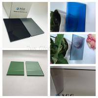 China Color tinted float glass prcie per M2 smoke grey light green blue 4mm5mm6mm on sale