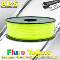 Fluorescent ABS 3d Printer Filament ABS 3D Printing Material For Desktop Printer Manufactures