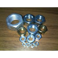 Customized Stainless Galvanized Hex Nut Plain Color M5 - M64 Excellent Corrosion Resistant Manufactures