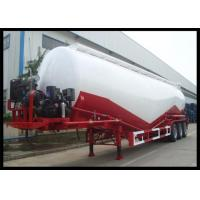 3 Axles Dry Bulk Cement Trailers , Leaf Spring Suspension Cement Bulk Truck Manufactures