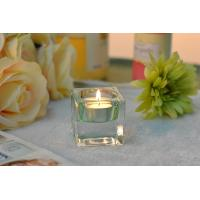 Square Colored Glass Votive Candle Holders , Glass Tealight Holders Manufactures
