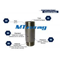 China ASTM A106 F317L Forged High Pressure Stainless Steel Pipe Fittings / Threaded Pipe Nipple on sale
