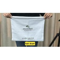 Professional Washable Promotional Drawstring Bags 100% Cotton For Hotel Hair Dryer Manufactures