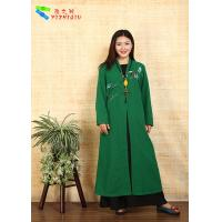 Traditional Chinese Clothing Female Floral Embroidered Coat For Daily Wear Manufactures