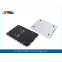 0.2W RF Power Integrated RFID Pad Reader , Lightweight 13.56 Mhz RFID Reader Writer Manufactures